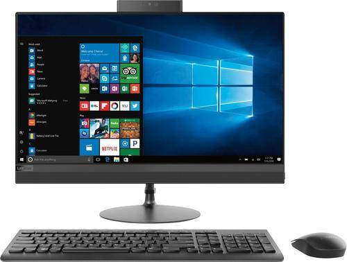 """Lenovo - 520-24AST 23.8"""" Touch-Screen All-In-One - AMD A12-Series - 8GB Memory - 1TB Hard Drive - Black"""