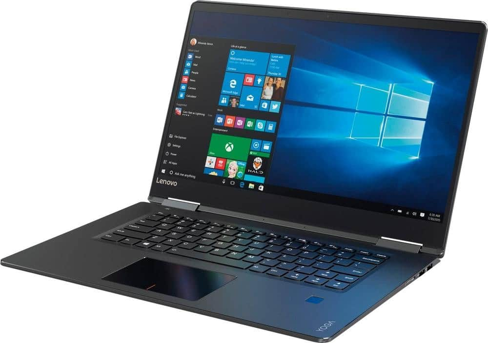 "Lenovo - Yoga 710 2-in-1 15.6"" Touch-Screen Laptop - Intel Core i5 - 8GB Memory - 256GB Solid State Drive - Black Tablet PC Notebook Computer 80V50010US $549.99"
