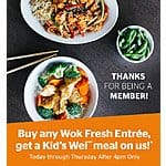 Pei Wei Rewards Members - Buy any Wok Fresh Entree, get a Kid's Wei meal on us! 8/31 - 9/3, after 4 p.m.