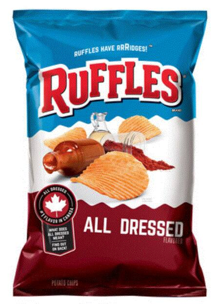 Walmart- Ruffles All Dressed Potato Chips, 8.5 oz. Bag at $2.98 + Extra 20% off Code Until 07/07 $2.39