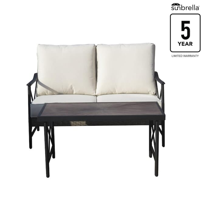 allen + roth Rothenbee Wicker and Aluminum Loveseat & Table Set $322.16