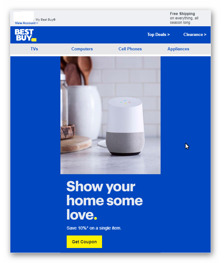 Best Buy 10% Off Coupon for targeted Members received via email - YMMW