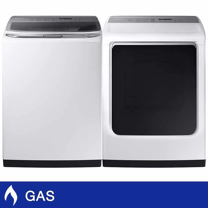 Samsung 5.4CuFt Top Load Washer with Activewash and 7.4CuFt GAS Dryer with Multi-Steam Technology $1299+tax