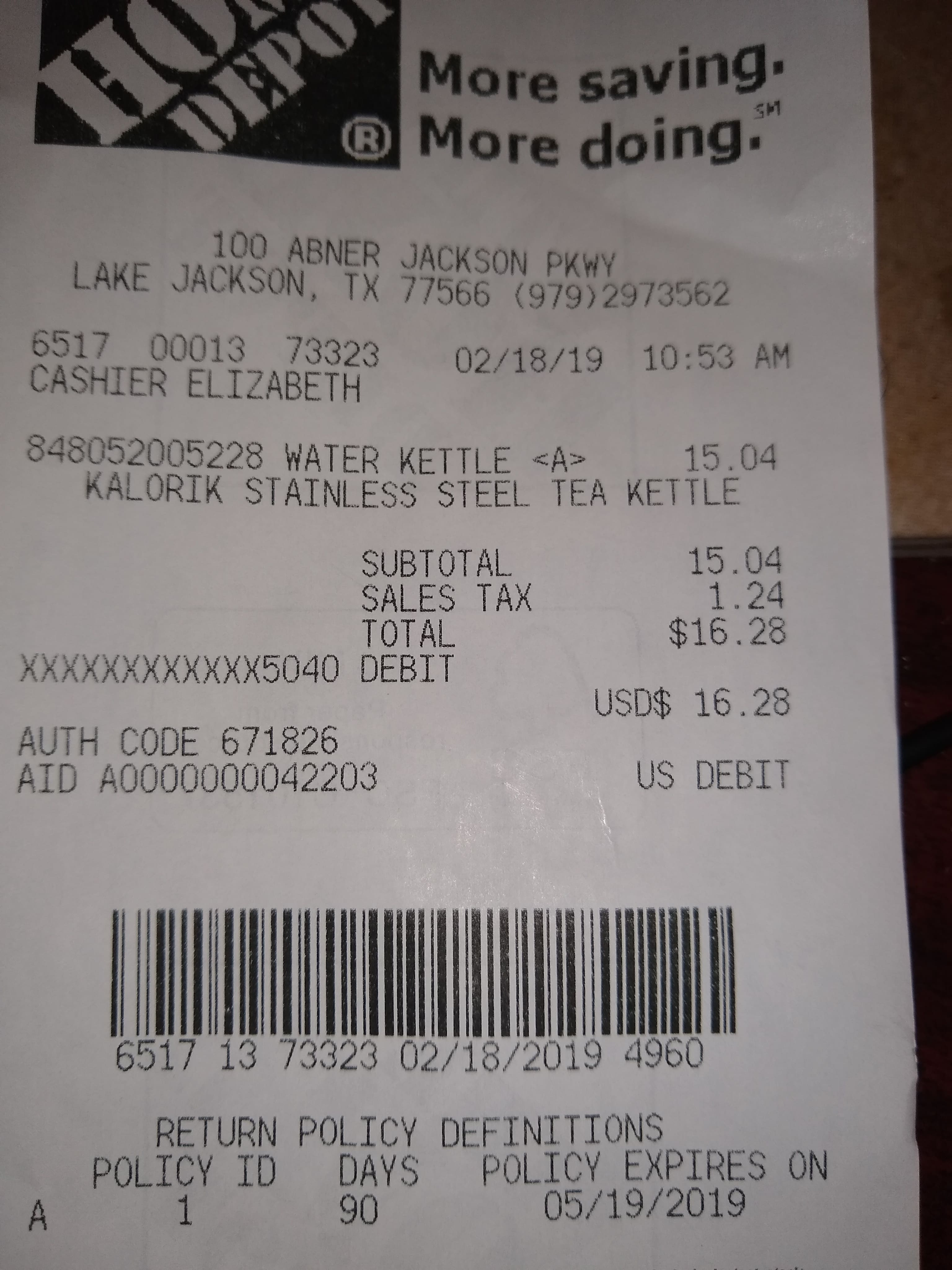 (Home Depot B&M YMMV) KALORIK JK-45020-SS 1.7l Electric Kettle $15.04