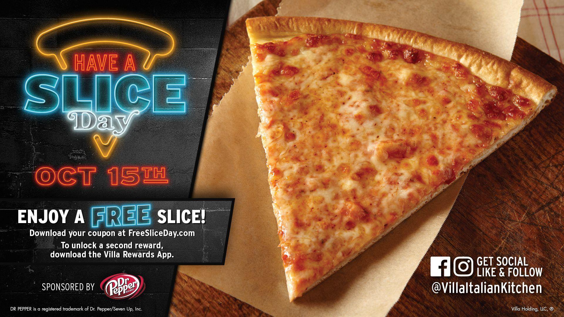 Villa Italian Kitchen - Get a free slice of Pizza