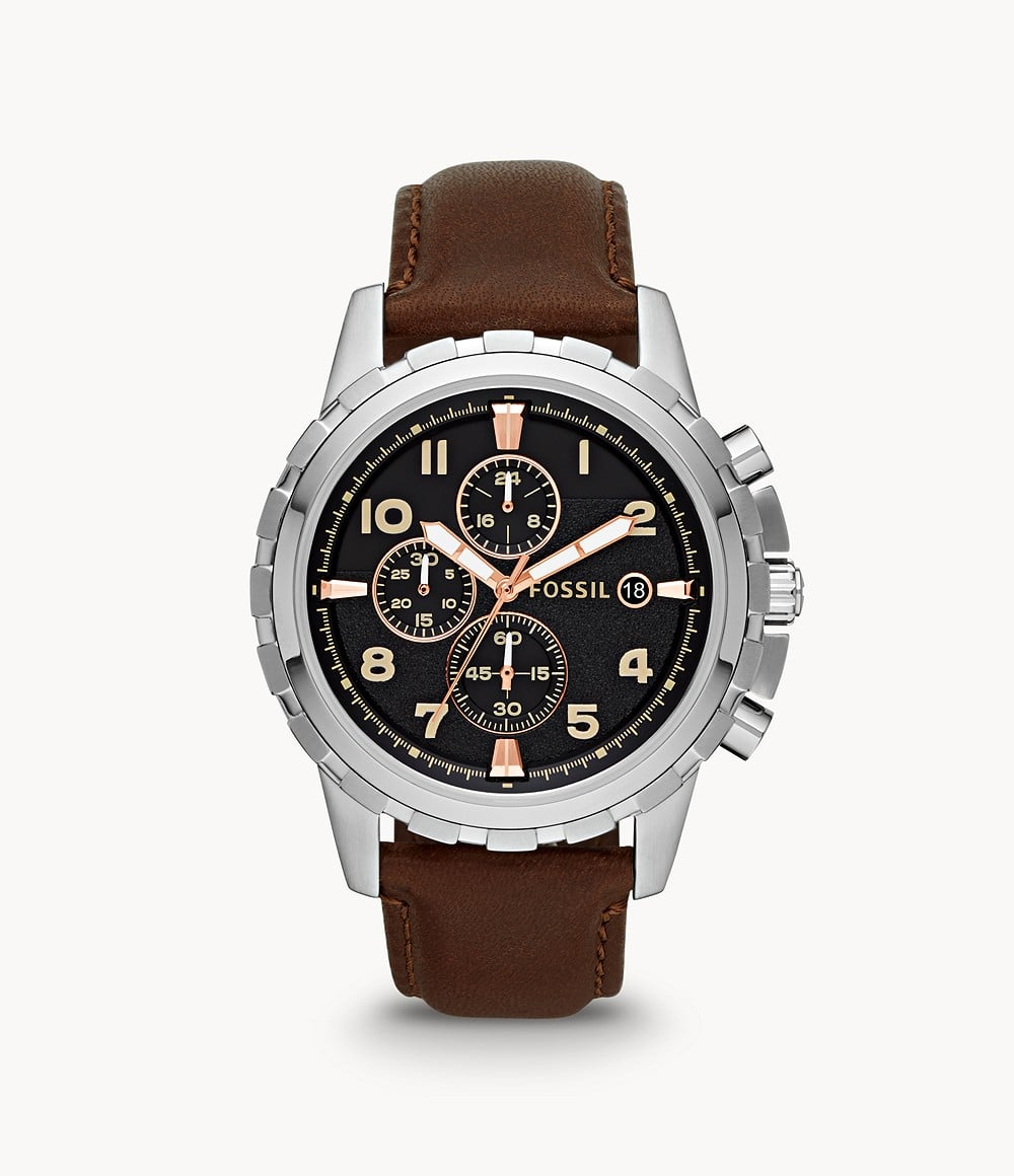Fossil Men's Dean Chronograph Brown Leather Watch - $41.70 + FS