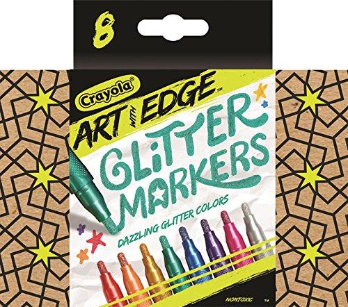 8 Count Crayola Art with Edge Glitter Marker Novelty - $4.95