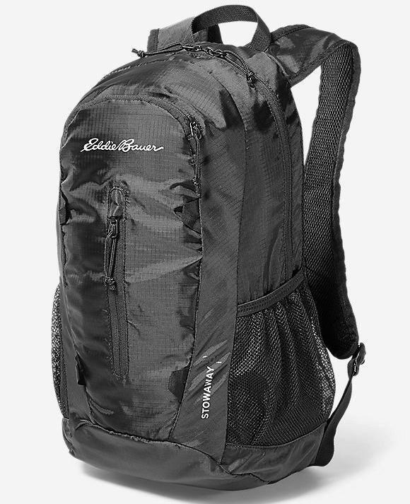 Eddie Bauer Stowaway Packable Bags: 20L Daypack $15, 30L Pack $20 + Free S&H