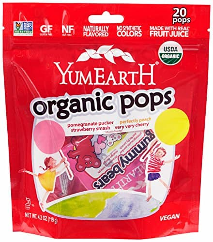 4.2oz YumEarth Organic Lollipops, Assorted Flavors (20 count lollipops) - $2.37 with S&S