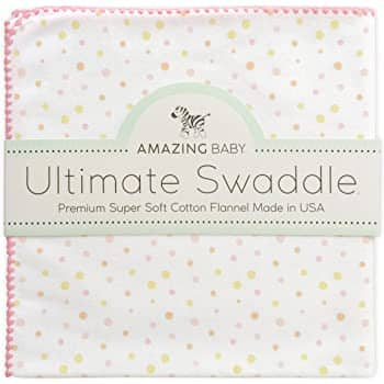 Amazing Baby Ultimate Swaddle, X-Large Receiving Blanket (3 colors) - $7.87