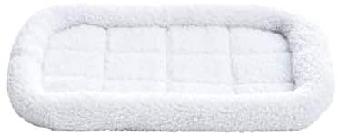 "22"" AmazonBasics Faux-Sherpa Padded Bolster Pet Bed - $5.99"