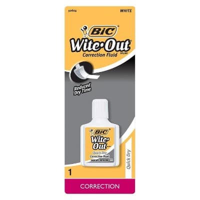 Target Circle In-Store: 4ct BIC Brite Liner Multicolor Ink Highlighter for $0.77, 0.7oz BIC Wite-Out Plus Correction Fluid for $0.14