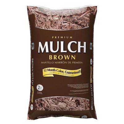 Lowe's In-Store: Premium 2-cu ft Hardwood Mulch (Dark Brown, Red or Black) - $2