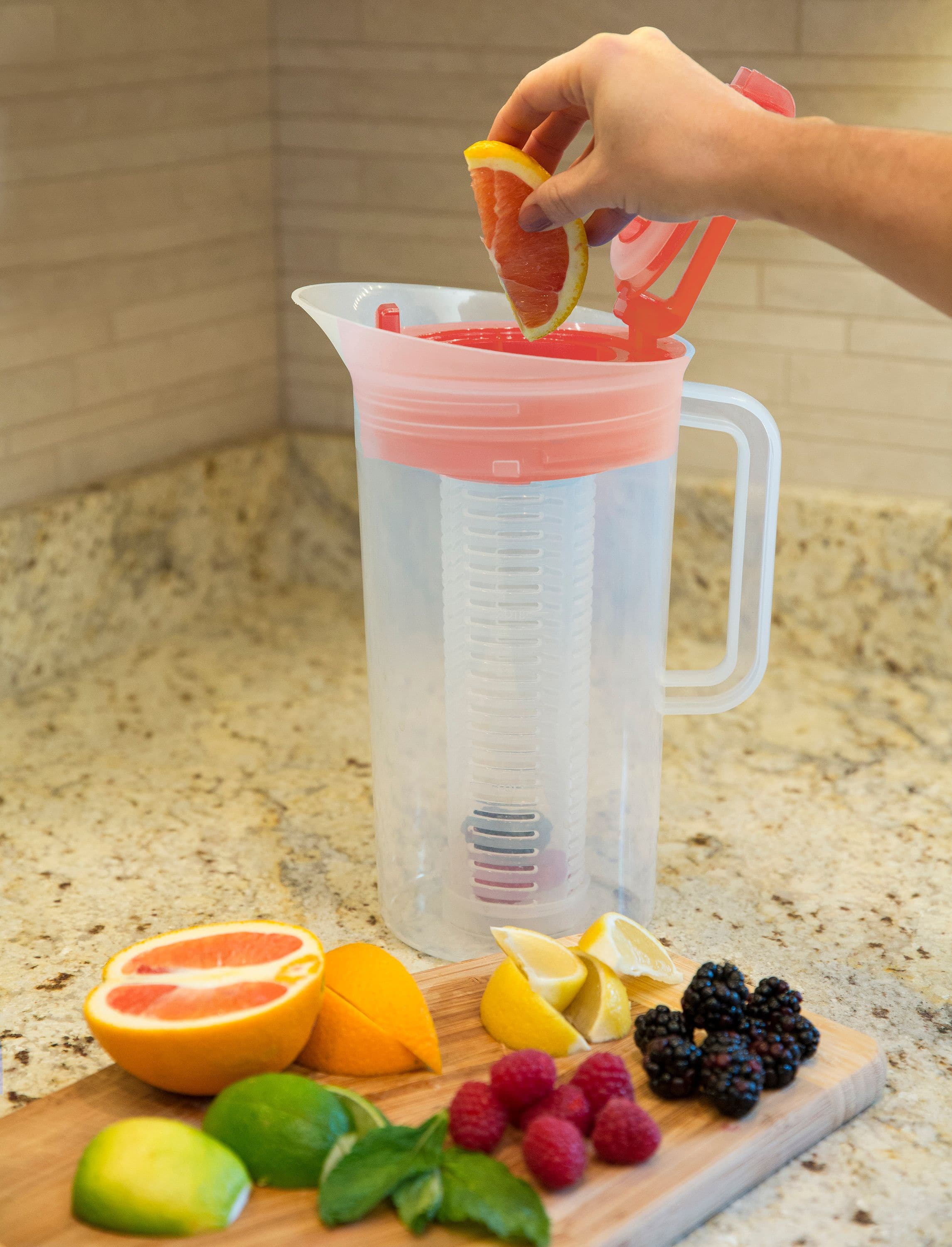 Primula Fruit Infuser Pitcher, Red - $7.86