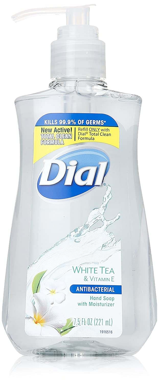 7.5oz Dial Antibacterial Liquid Hand Soap, White Tea & Vitamin E (Pack of 12) - $13.44