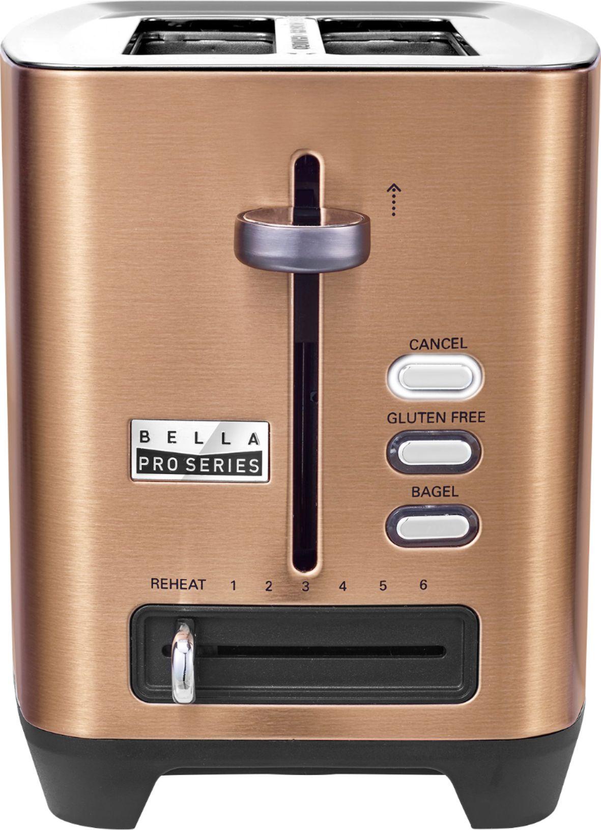 Bella - Pro Series 2-Slice Extra-Wide-Slot Toaster - Copper - $24.99