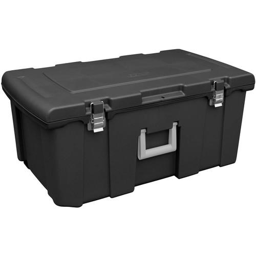 16-Gallon Sterilite Footlocker Storage Box w/ Wheels (black) - $16.46