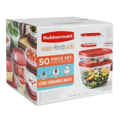 Sam's Club Members: Rubbermaid 50-Piece Easy Find Lids Food Storage Set - $15.98 + Free Shipping