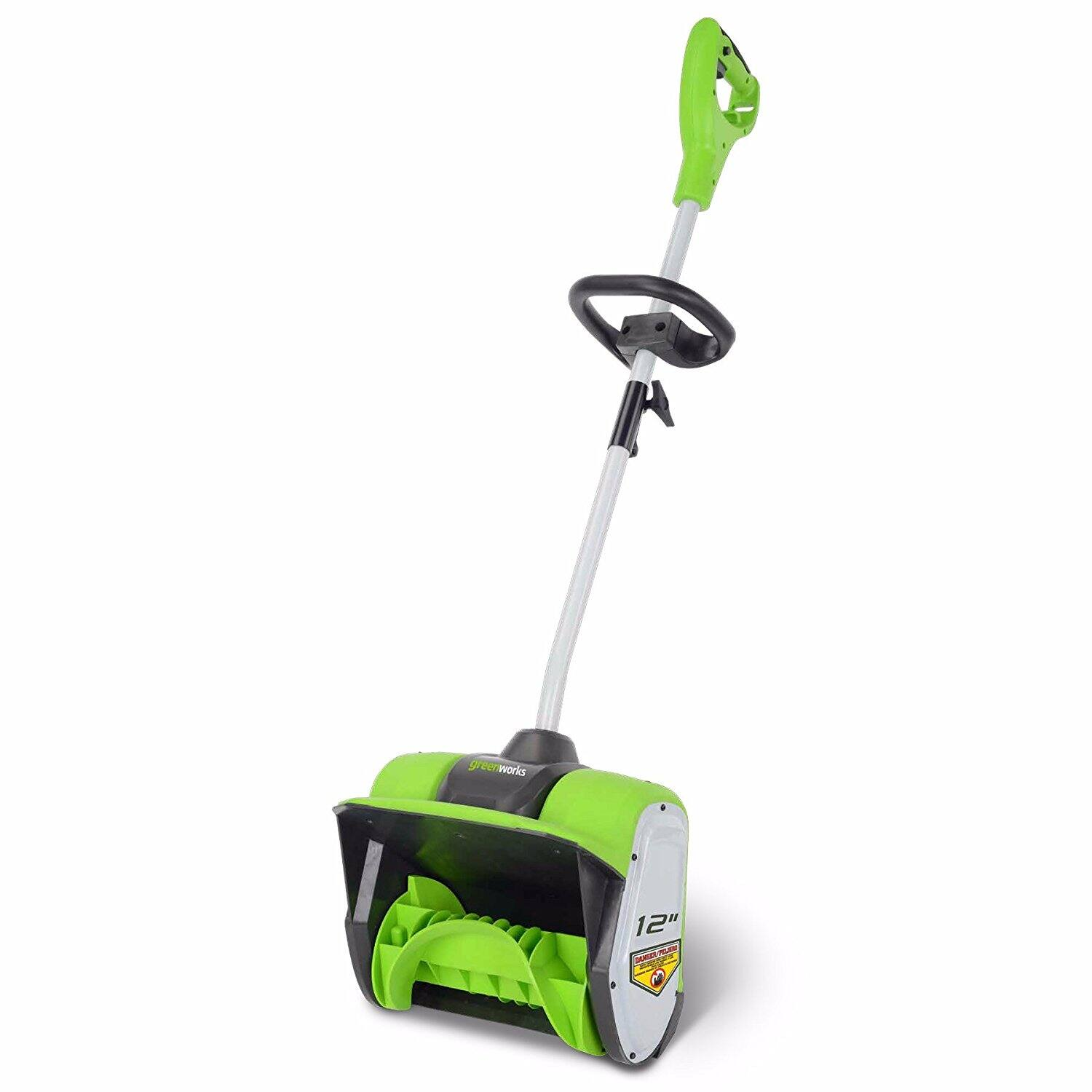 $48 Corded Snow Shovel thrower $48 GreenWorks 2600802 8 Amp 12-Inch Corded Snow Shovel thrower on Amazon $48.63