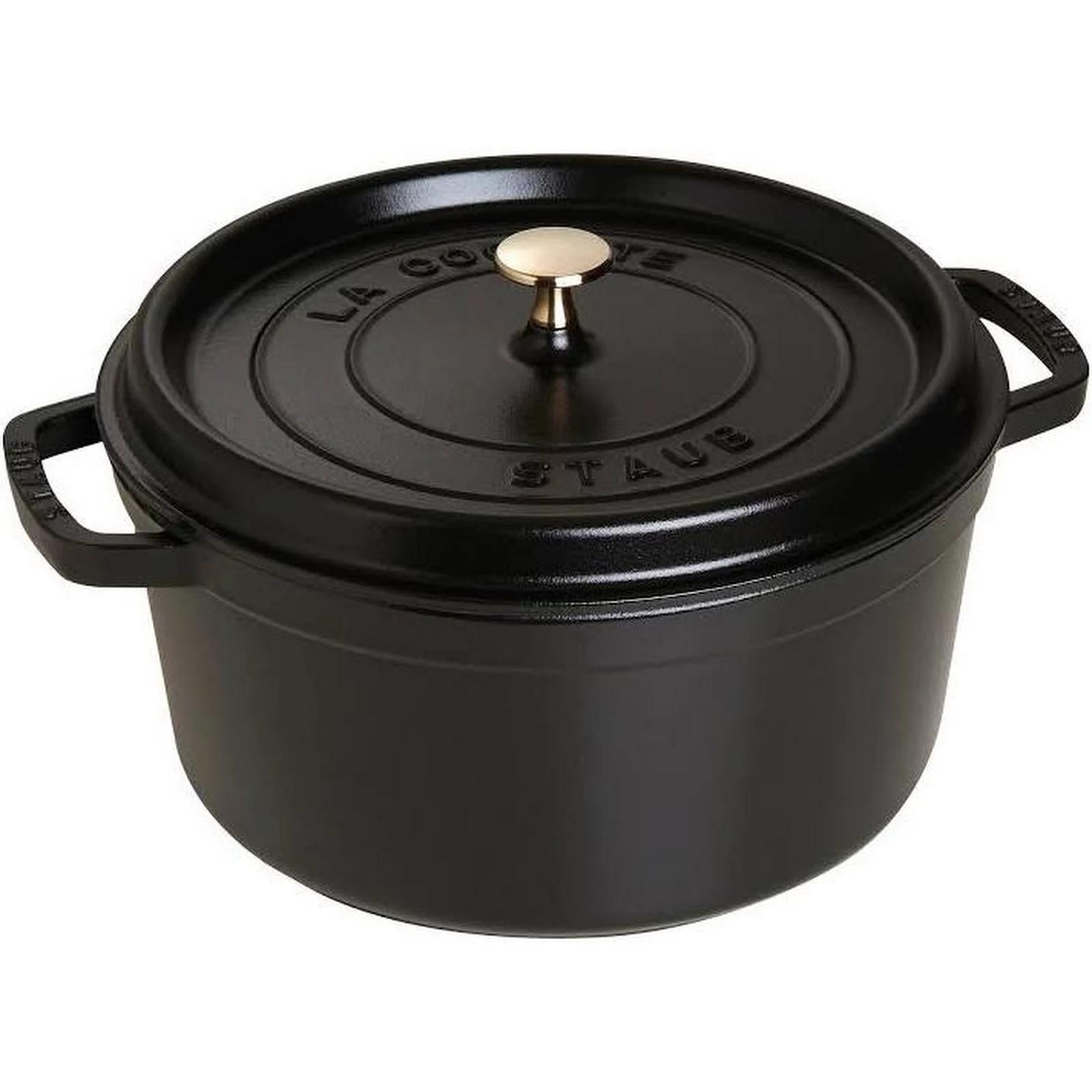 Staub Cast Iron 7-qt Round Cocotte - Black Matte for $100.21 using Google Express Application