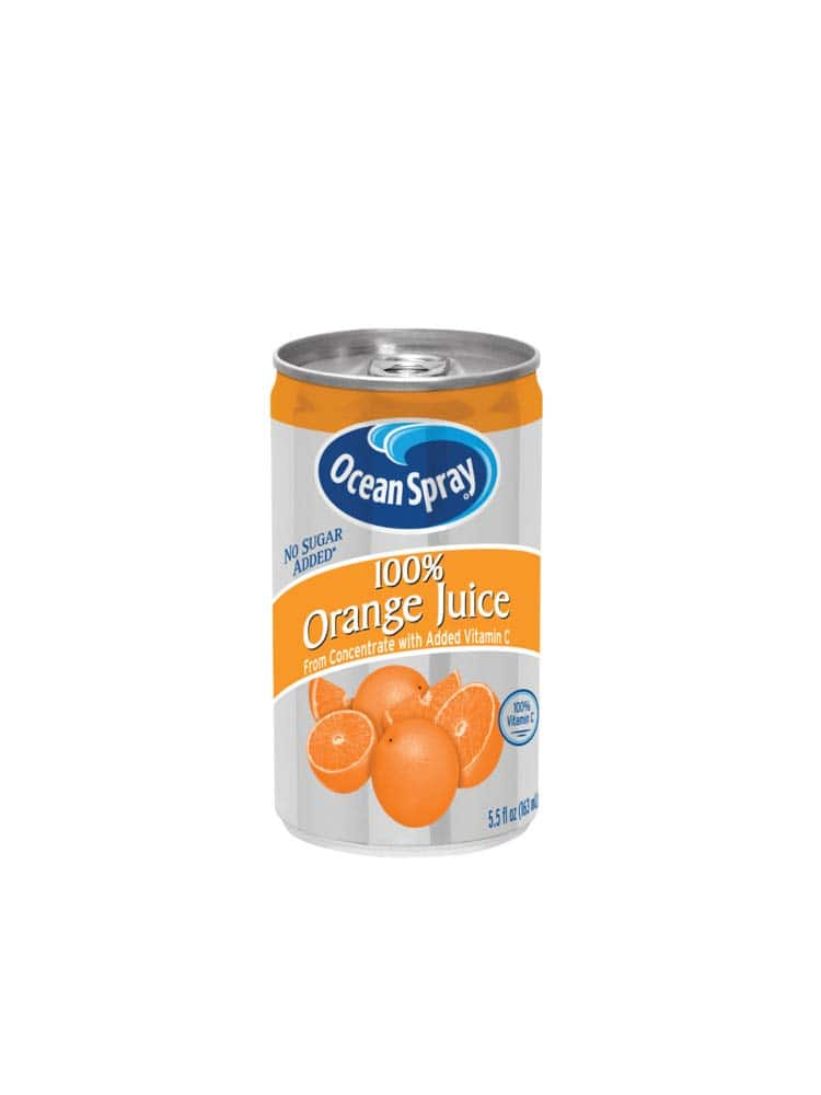 48 Pack 5.5 Ounce Ocean Spray 100% Orange Juice Mini Cans $15.83 with S&S