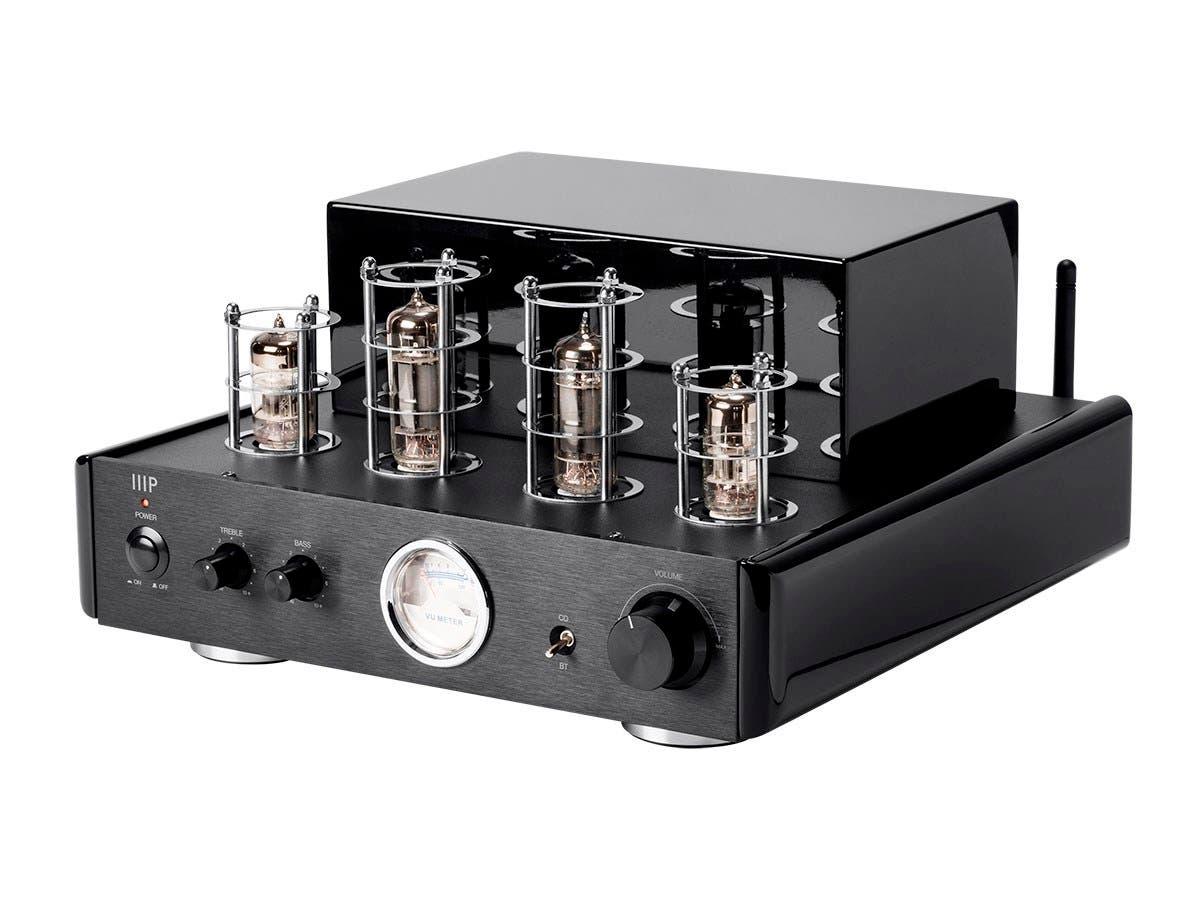 Retro vacuum tube-type hi-fi stereo amplifier w Blutooth, Line, Phono inputs $129 or $279, all tube not hybrid,  free sh, monoprice $130