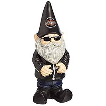 Harley-Davidson Garden Biker Gnome - Renewed -Works and looks like new with warranty- new price $23.11 prime