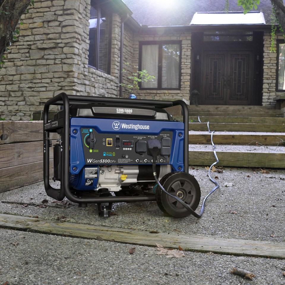 Sam's club members:  back in stock reg price Westinghouse 274cc Wgen5300DFv Duel Fuel 5300 run / 6500 peak generator with 240V capability  $450