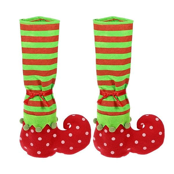 upto 60% OFF  NOW - Pair of Christmas Table Leg Covers Elf Elves Feet Shoes Legs Party Festival Decorations christmas gift $1.59