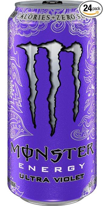 Prime Members: 24-Pack of 16oz Monster Energy Drinks (Ultra Violet) $24.70 w/ S&S + Free S&H