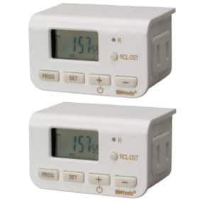 Add-on Item: 2 pack Woods 50007WD Indoor 24-Hour Digital Timer - $7.67 on Amazon