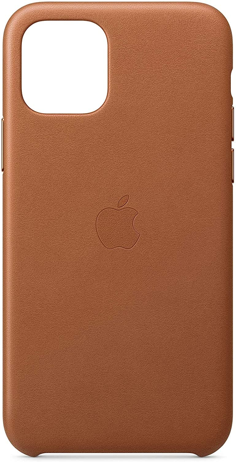 Apple Leather Case for iPhone 11 Pro: Saddle Brown $18.82, Black $14.99 + Free Prime S&H