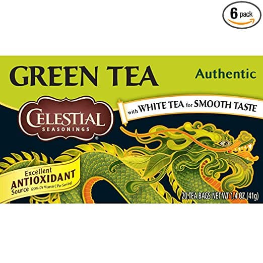 Celestial Seasonings Green Tea, Authentic, 20 Count (Pack of 6) $8.99 with S&S