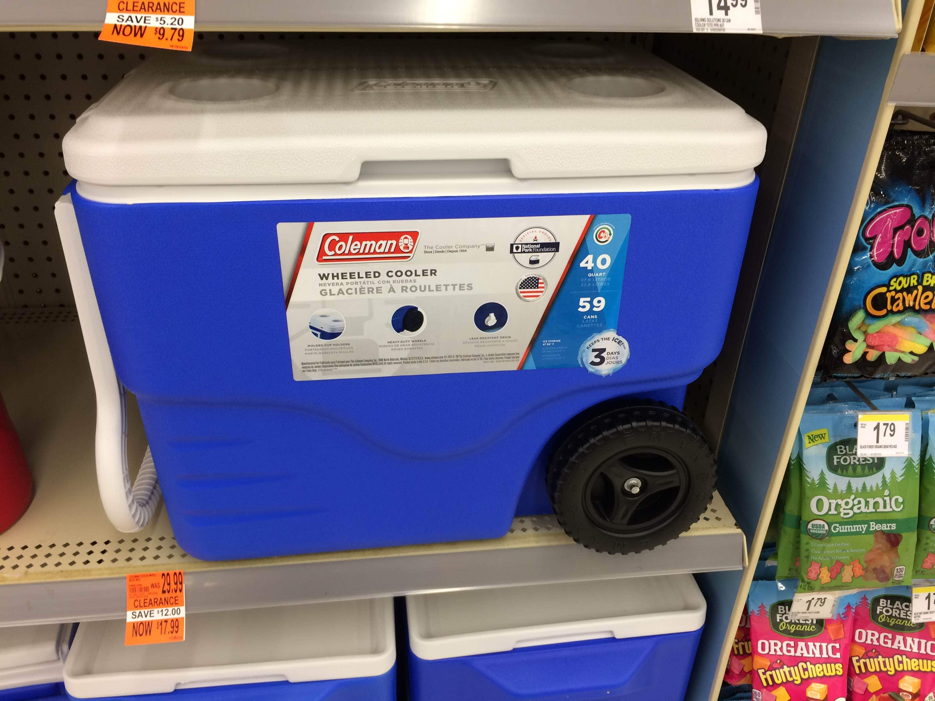 Coleman 40 qt 59 Cans - Wheeled Cooler for 17.99 @ Walgreens Clearance - YMMV