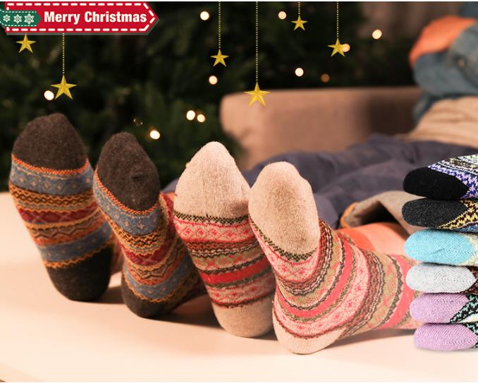 50% off  Warm Wool Socks,sold $8.49 with code TRKMQ743