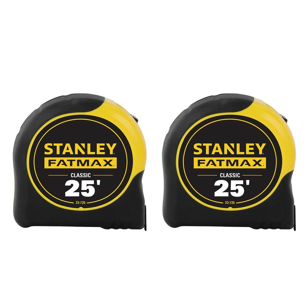Stanley 25 ft. FATMAX Tape Measure (2-PACK) at Home Depot for $19.88 (YMMV)