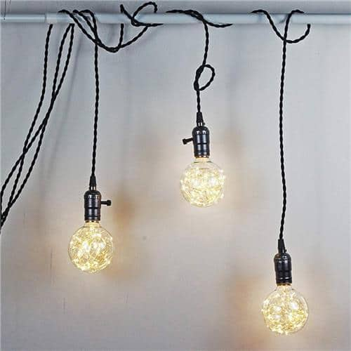 Edison G95 Gypsophila E26 Decorative Bulb Led Copper Wire Bulbs Christmas Decoration Lights Warm White Us Plug 3 99 Geeking