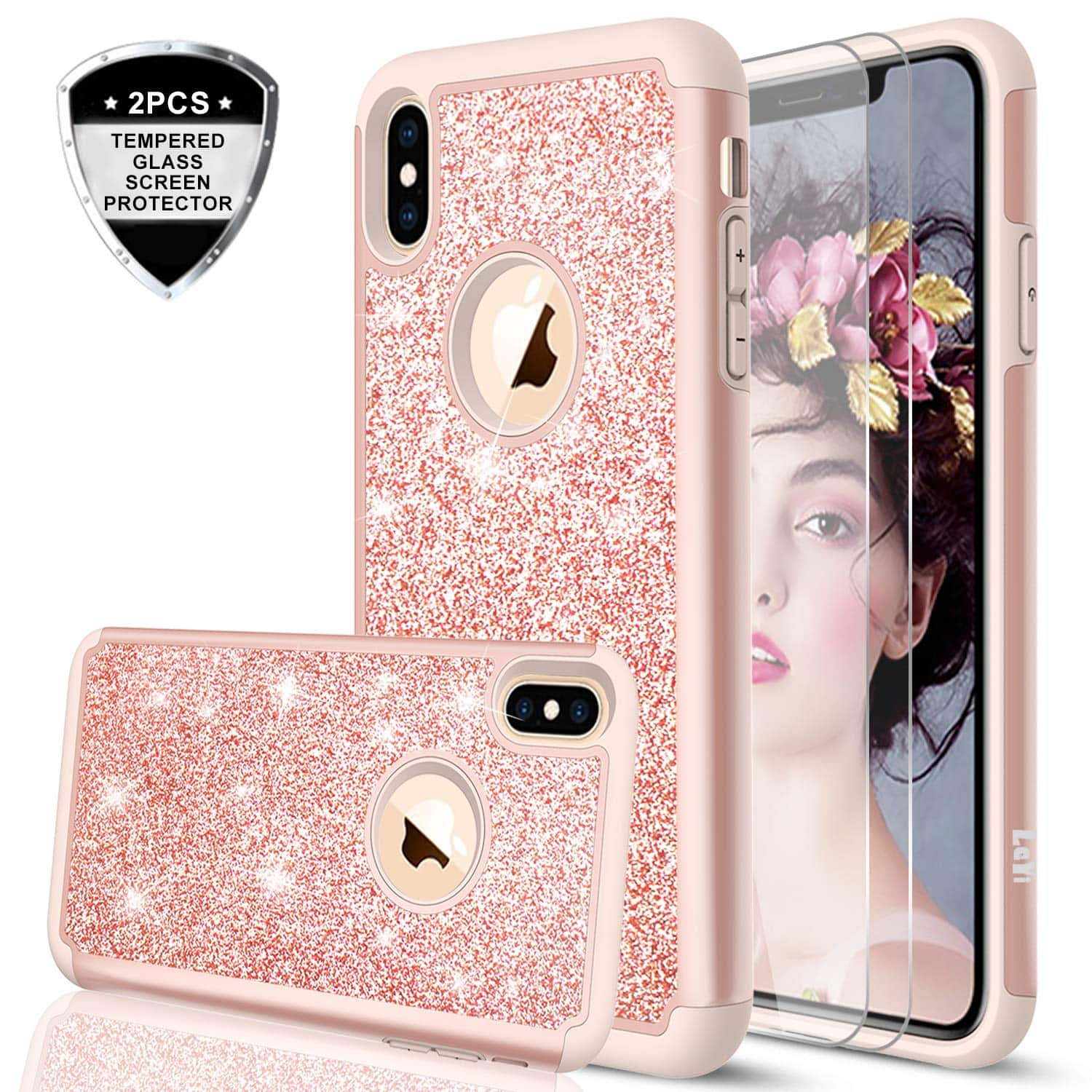 Glitter Case with Screen Protector for iPhone xr / 5S  samsung Galaxy  Note 8 / s9 /s8 /Google pixel 3 - $2.99+Free Shipping