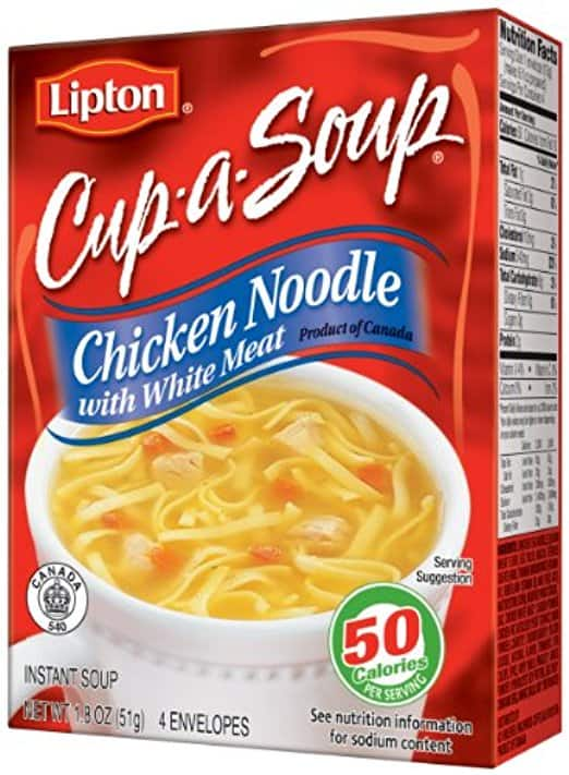 Lipton Chicken Noodle Cup-A-Soup 12 Pack (48 envelopes) $13.32 AC on Amazon with S&S