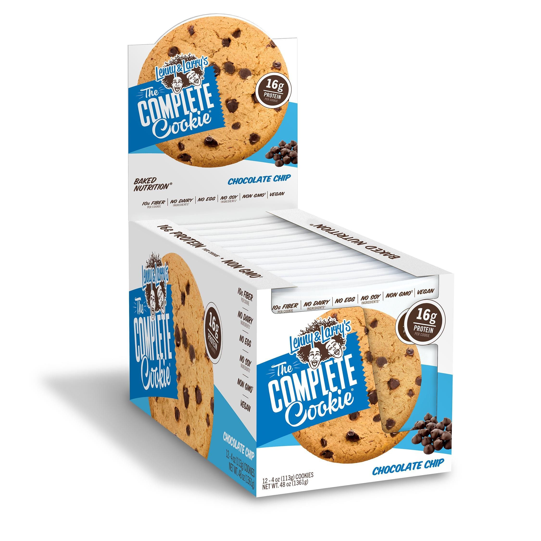 Lenny and Larry's The Complete Cookie 4oz 24 cookies for $1.20 each/48 cookies 97cents each- Vitamin Shoppe
