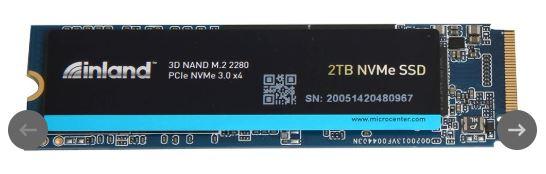 Inland Professional 2TB 3D QLC NAND PCIe Gen 3 x4 NVMe M.2 Internal SSD $199.99