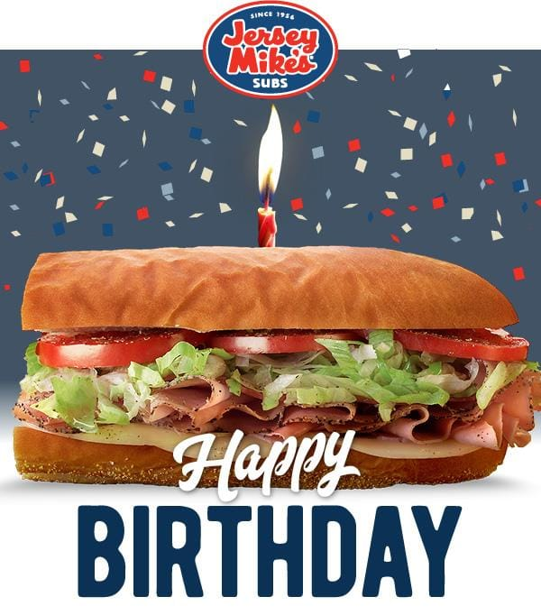 Any free regular sub at Jersey Mikes with Fountain Drink