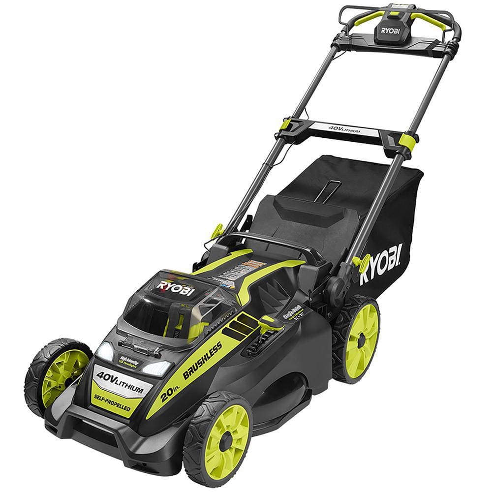 Ryobi 40V 20 in. Brushless Self-Propelled Lawn Mower with 5.0 Ah Battery and Charger $249 - Home Depot B&M Clearance YMMV