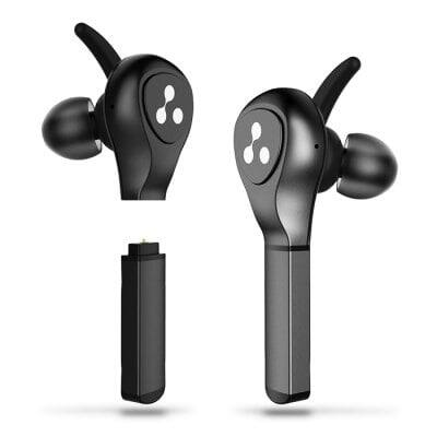 Syllable D9x Battery Plug-In True Wireless Headset with Metal Charge Case  -  BLACK $49.99