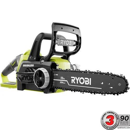 Ryobi ONE+ 12 in. 18-Volt Brushless Lithium-Ion Electric Cordless Chainsaw - Battery and Charger Not Included $119.25