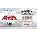 "Free Star Wars Pin for first 100 customers at Disney Store on ""Force Friday"" 9/4"