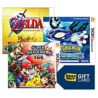 Best Buy Deal: Bestbuy has free $20 Gift Card with two select Nintendo 3DS video games + Free Shipping (Online Only Offer)
