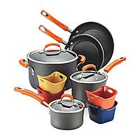 Macys Deal: Rachael Ray Hard-Anodized Nonstick 12-Piece Cookware Set for $65.02 + Free Shipping on $75+ at Macys