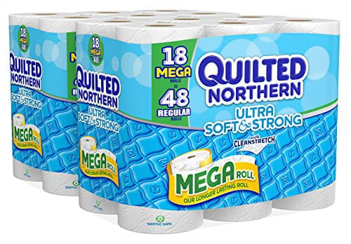 ***FP Deal back - Amazon: 36 MEGA Rolls of Quilted Northern Ultra Soft & Strong Bath Tissue $16.24 or less Shipped (Only 17¢ Per Regular Roll)