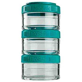 BlenderBottle GoStak Twist n' Lock Storage Jars, 60cc 3-Pak - Cyan or Teal For $7.99 @ Amazon